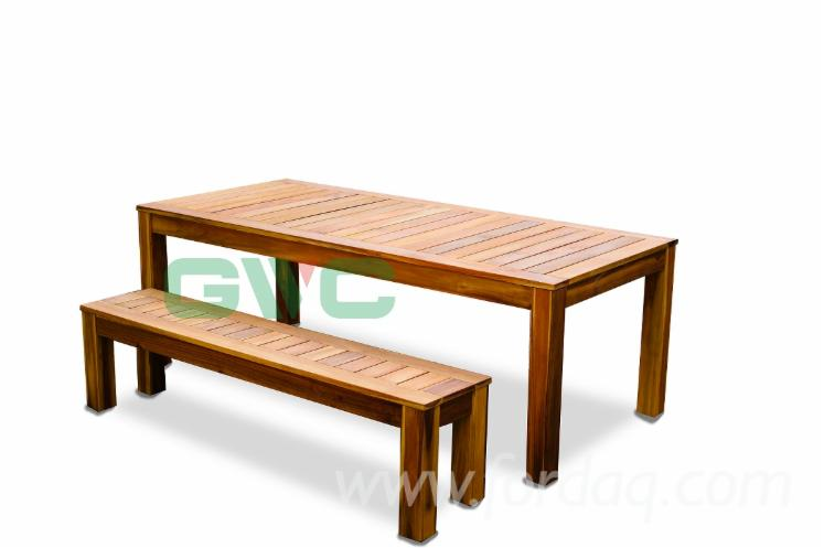 Vietnam-Wooden-Bench-Set-2-Pieces-Outdoor-Bench-Dining