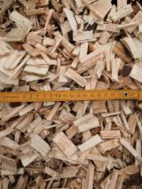 木芯片 – 树皮 – 锯切 – 锯屑 – 刨削 锯木厂生产之木片 苏格兰松, 云杉