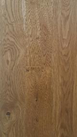Engineered Wood Flooring - 1-Strip Smoked Oak Transparent, 13.5 mm