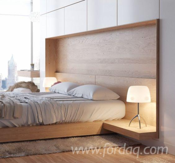 Double Bed with Natural Wood - Design Style