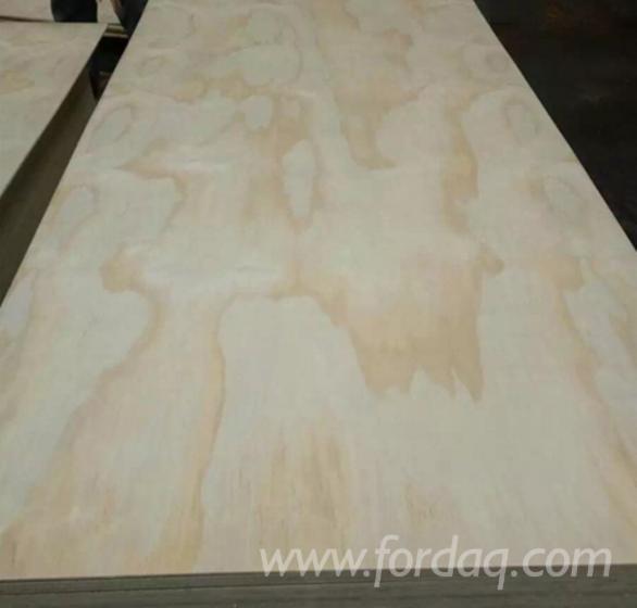 Radiata Pine Natural Plywood, 2.5-30mm