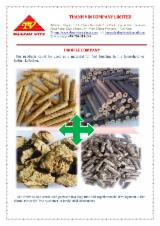 薪材、木质颗粒及木废料 - 木质颗粒 – 煤砖 – 木碳 稻壳颗粒