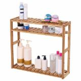 Bathroom Furniture - Bathroom Shelf 3-Tier/ Wall Mount Shelf for Living Room Kitchen Balcony/ Adjustable Free Standing Multifunctional Utility