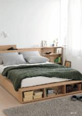 Oak/Rubberwood Natural Wooden Beds