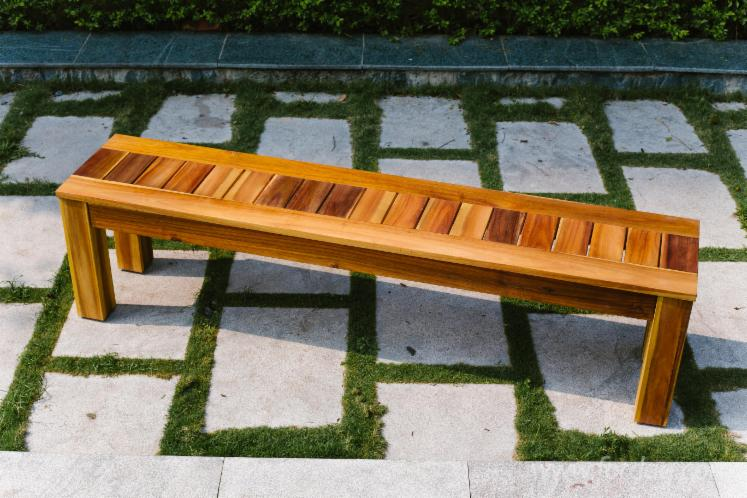 Vietnam Patio Wood BBQ Table Set, DIY Assembly