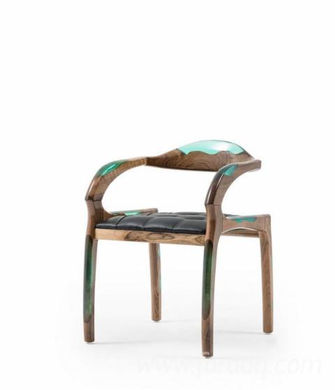 Brown Ash Epoxy Chair