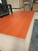Cherry Beech Walnut White Melamine laminated MDF board 8mm 18mm