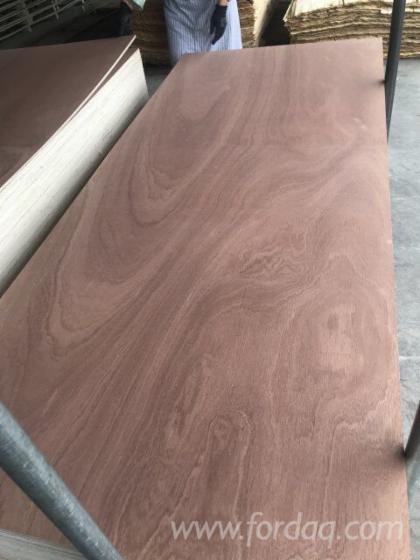 Sapele Face Poplar Back Door Plywood For Interior Doors