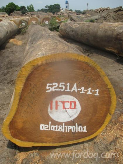 Iroko-Round-Logs
