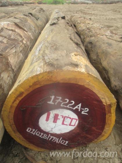 Padouk-Round-Logs