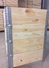 Spruce Pallets And Packaging - New Spruce/Pine Wooden HALF Pallet Collars, Pliable Industrial Crates 600x800
