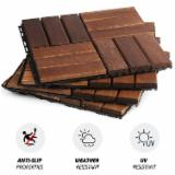 Trova le migliori forniture di legname su Fordaq - Moc Phuoc Sanh Deck Tiles - Vendo Piastrelle Di Legno Per Giardino Latifoglie Europee