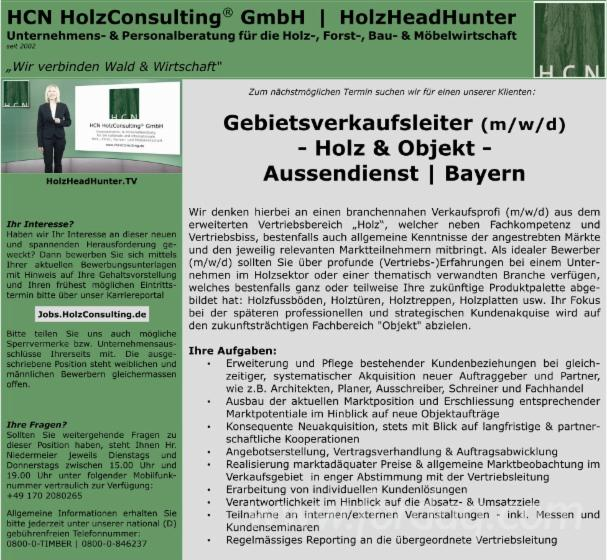 Commercial Permanent Position (With Deutsch), Bayern