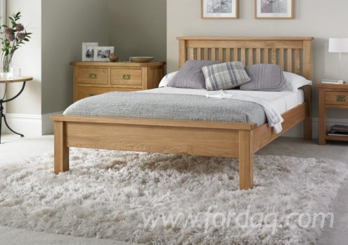Oak/Rubberwood Natural Wooden Beds (Competitive Price)