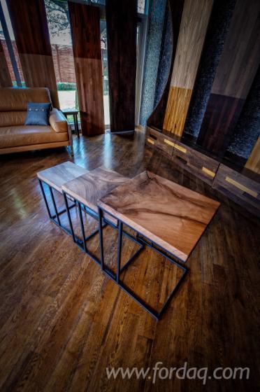 Walnut Cafe Table Set