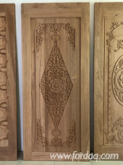 Drewno-Azjatyckie--Drzwi--Drewno-Lite
