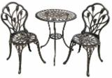 Cast Aluminium Garden Set 3 Pieces