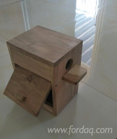 Wooden nest for birds / small house for birds