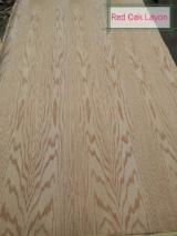 Red Oak Natural Veneer (Layon), 0.27 mm