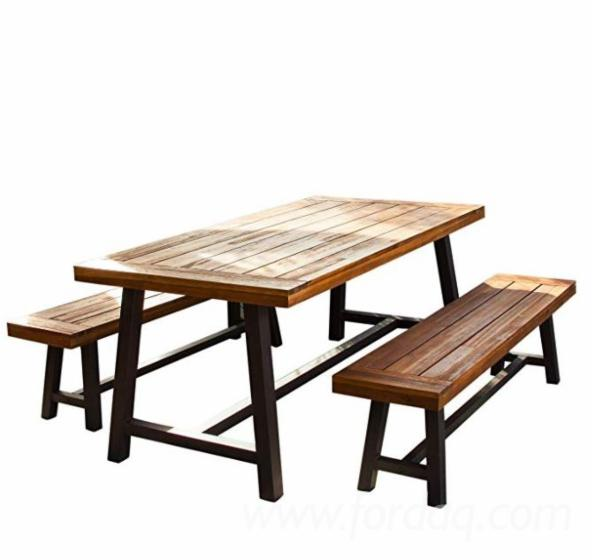 Acacia-Wood-Dining-Set--Classic-Outdoor-Dining-Set--Multifunctional-Picnic-Table-And-Benches