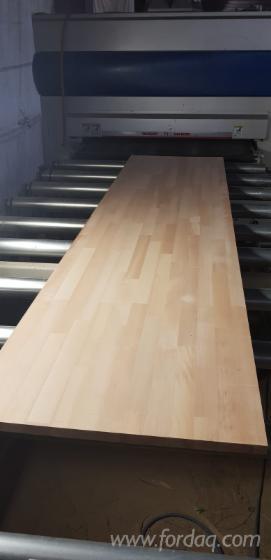 1 Schicht Massivholzplatten, Buche