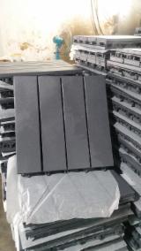 FSC Acacia Garden Wood Tiles (Grey), 19 mm