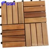 DIY Acacia Decking Tiles (E2E), 300x300 mm