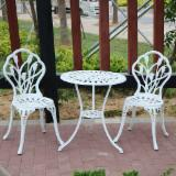 Cast Aluminum Table and Chairs Bistro Set