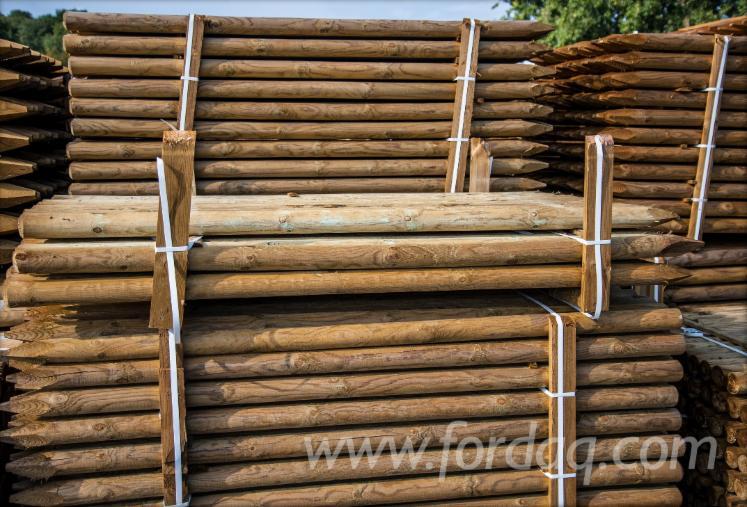 Comprar Madeira Redonda Aparada De Forma Cilíndrica Pinus - Sequóia Vermelha Polônia