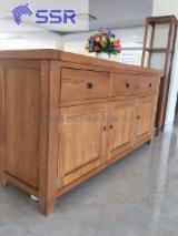 Acacia/Rubberwood/Sapelli Kitchen Cabinets