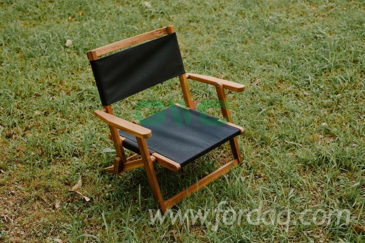 Vietnam Foldable Leisure Acacia Chairs (Black), FSC