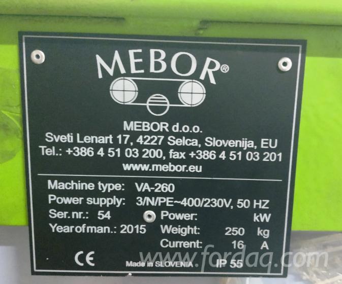 Used Mebor VA-260 Machine (Welding Band Saws), 2015