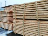 Rounded Pine Poles, 1200-4000 mm