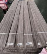 天然木皮单板, 黄苹果木, 筒状非洲楝木, 平切,平坦