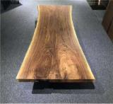 Book Matched Black Walnut Table Top (Live Edge), 40-45 mm