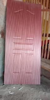 Teak Veneered HDF Moulded Door Skin Panel, 3-4.2 mm
