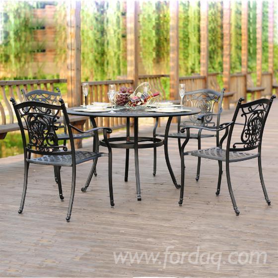 Outdoor Furniture - Cast Aluminium Dining Chair & Table (CE)