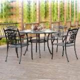 Outdoor Furniture - Cast Aluminium Dining Chair & Table (CE)
