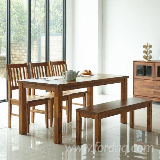 Ash/Rubber/Pine/Oak/Walnut Chair & Table for Dining Room