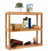Bathroom Furniture - Acacia Bathroom Shelf Rack for Home Decoration (3-Tiers) - DIY