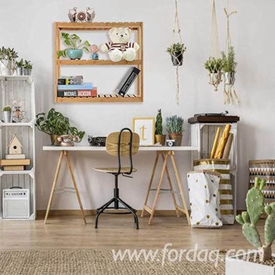 Acacia Bathroom Shelf Rack for Home Decoration (3-Tiers) - DIY