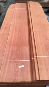 天然木皮单板, 筒状非洲楝木, 平切,华纹