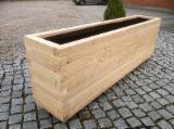 Jardinière rectangulaire en Robinier Jardiniere en bois Jardinière bois en meleze