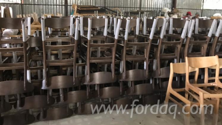 Acacia/Rubberwood Restaurant Chair (Style: Design)