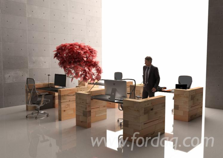 Modular-office-single-multi-desks-in-solid-wood--