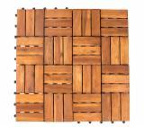 Acacia Deck Garden Tiles, 12-23 mm