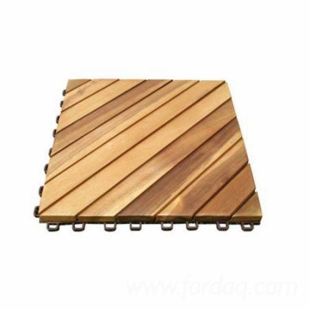 Acacia Deck Tiles (8 Slats), 450x450 mm