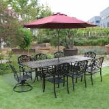 Outdoor Cast Aluminium Furniture (Table+Chairs)
