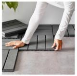 Acacia + Plastic Anti-Slip Outdoor/Pool Tiles, 19 mm