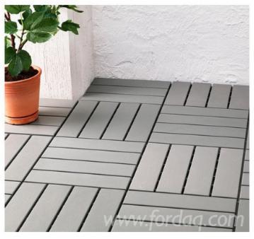 Acacia + Plastic Anti-Slip Outdoor/Pool Tiles, 19 mm